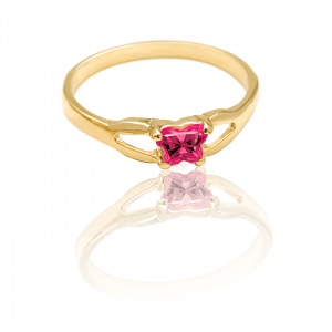 10k Gold Ring - Fuchsia
