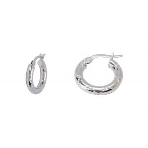 10KT 10mm Fancy White Earrings