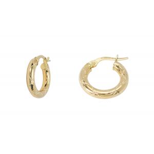10KT 10mm Fancy Yellow Earrings