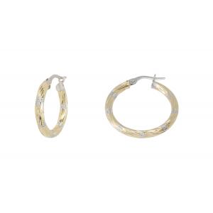 10KT 15mm 2-Tone earrings