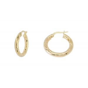 10KT 15mm Fancy Yellow Earrings