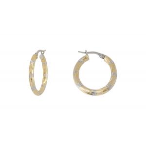 10KT 2-Tone Oval earrings