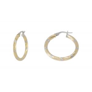 10KT 25mm 2-Tone earrings