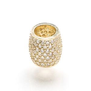 Charm en or jaune inSPire : pavé (Compatible avec Pandora)