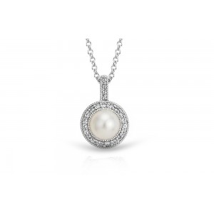 Freshwater Pearl and White Topaz Pendant
