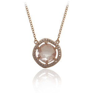 La Vie en Rose, Rose Quartz, Necklace